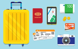 Icons set of traveling Stock Photos