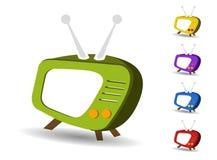 Icons set TV vector Stock Photo