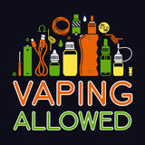Icons set of  Vape Royalty Free Stock Photos