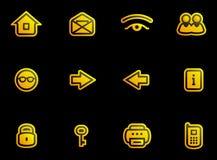icons set vector Стоковые Изображения RF