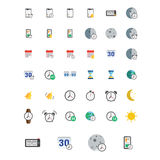 Icons set. Vector illustration of flat colored pictogram. Sign and symbols Stock Image