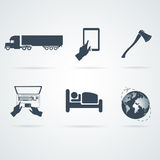 Icons set  vectors Stock Image