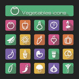 Icons set vegetables Stock Images