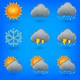 Icons set weather Stock Photos