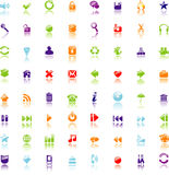 Icons set for web Royalty Free Stock Photos
