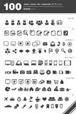 100 icons set Stock Photo