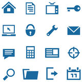 Icons set for web and mobile apps. Royalty Free Stock Photography