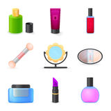 Icons set woman accessories Stock Image