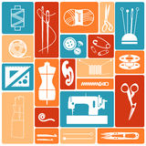Icons sewing stuff Stock Image