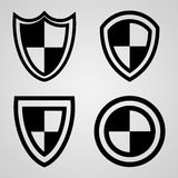 Icons Shield Stock Photography