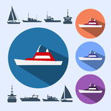 Icons ships Stock Photos