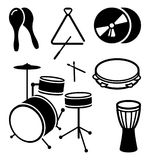Icons of shock musical instruments. Vector illustration Stock Photo