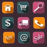 Icons_shopping Imagem de Stock Royalty Free