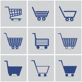 Icons shopping cart Royalty Free Stock Images