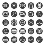Icons shopping Royalty Free Stock Photos