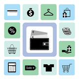 Icons shopping set Royalty Free Stock Image