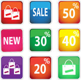 Icons for shopping. Royalty Free Stock Photo