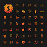 46 icons shopping and Travel set  Stock Photography