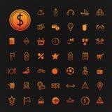 46 icons shopping and Travel set. Eps.10 Stock Photography
