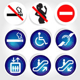 9 icons signage Royalty Free Stock Image