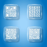 Icons simple qr code glass Royalty Free Stock Images