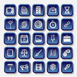 Icons sketches for the site Royalty Free Stock Photo