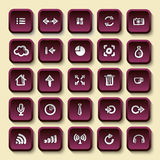 Icons sketches for the site Royalty Free Stock Photos
