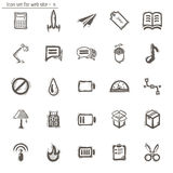 Icons sketches for the site Stock Image