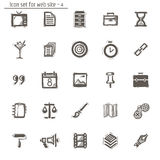 Icons sketches for the site Royalty Free Stock Images