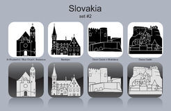 Icons of Slovakia Royalty Free Stock Image