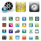 Icons for smartphone Royalty Free Stock Image