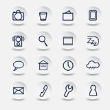 Icons for Smartphone Stock Image