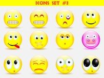 Icons smile set Royalty Free Stock Photos