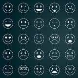 Icons of smiley faces Stock Photo