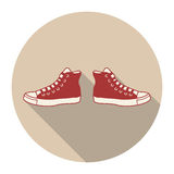 Icons with a sneaker Stock Photos