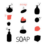 Icons soap Stock Photography