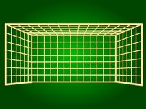 Icons soccer gate. Thin lines. Royalty Free Stock Photography