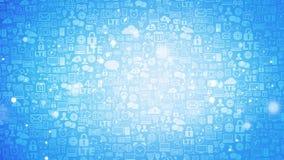 Icons social computer network Stock Photos