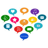 Icons of Social Media Royalty Free Stock Photography