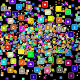 Icons social media icon Stock Photos