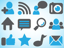 Icons of social network Royalty Free Stock Photos