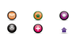 Icons for social network Stock Photography