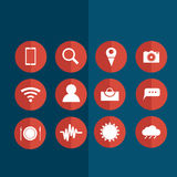 Icons for social networking Stock Photos