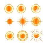 Icons solar weather Stock Image