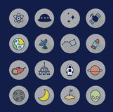 Icons space Stock Image
