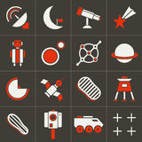Icons space set 2. Set of flat icons space No. 2 Stock Photo