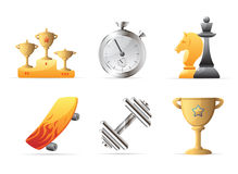 Icons for sport Stock Photography