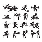 Icons sport. Authors illustration in vector Royalty Free Stock Photo