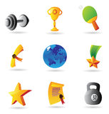 Icons for sport and awards Stock Photos
