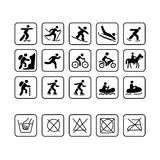 Icons for sport clothes design. Vector illustration Royalty Free Stock Photo